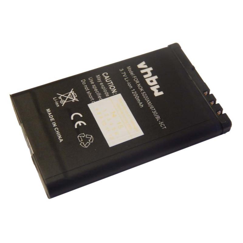 Batéria Nokia 3720 classic, 5220 XpressMusic, 6303 classic, 6303 Illuvial, 6730 classic, C3-01 Touch and Type, C5, C6-01 - 1200 mAh Li-Ion