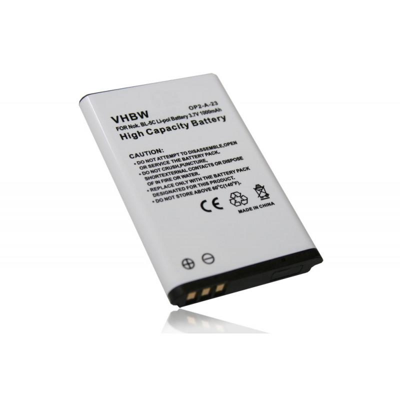 Batéria pre Nokia 1100, 1101, 1110, 1600, 2300, 2600, 3100, 3120, 3650, 6030, 6230, 6230i, 6600, 6630, 6670, 6681, 6820, 6822, E50 - 1000 mAh Li-Ion