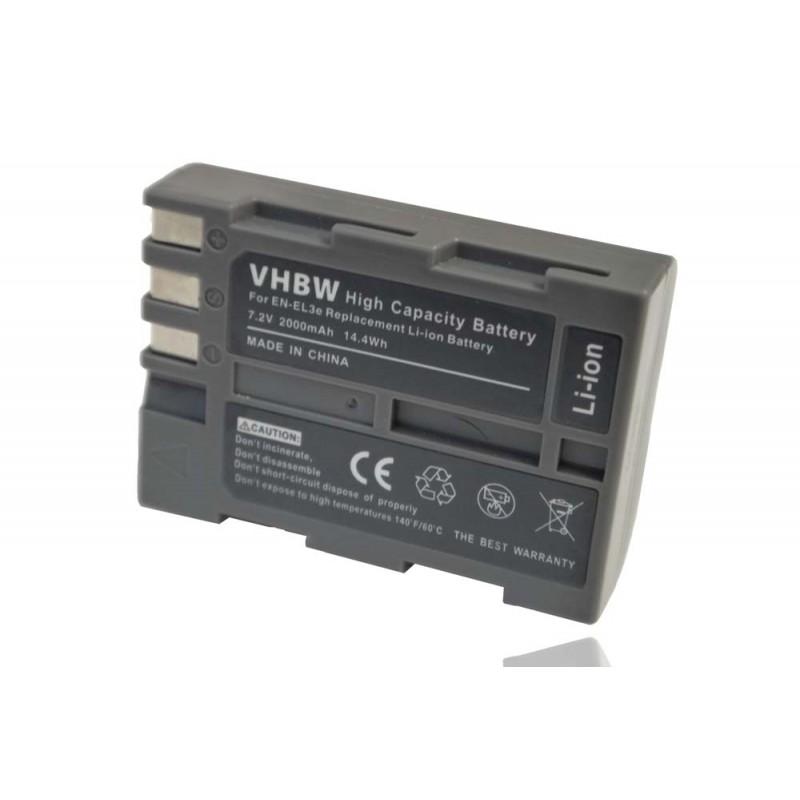 Batéria pre Nikon EN-EL3, EN-EL3e  2000mAh Li-Ion
