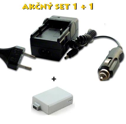 Akčný set: LP-E5 (Nabíjačka + akumulátor Li-Ion 800 mAh)
