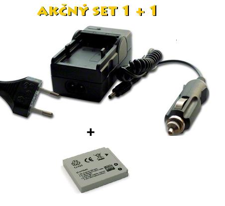 Akčný set: NB-4L (Nabíjačka + akumulátor) Li-Ion 600mAh