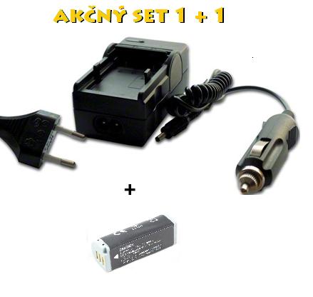 Akčný set: Nabíjačka NB-9L + batéria (600 mAh) li-ion akumulátor