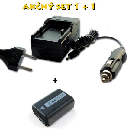 Akčný set: NP-FW50 (Nabíjačka + akumulátor 950 mAh Li-Ion)