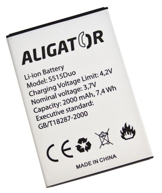Batéria Aligator S515 DUO - 2000 mAh - Li-Ion bulk