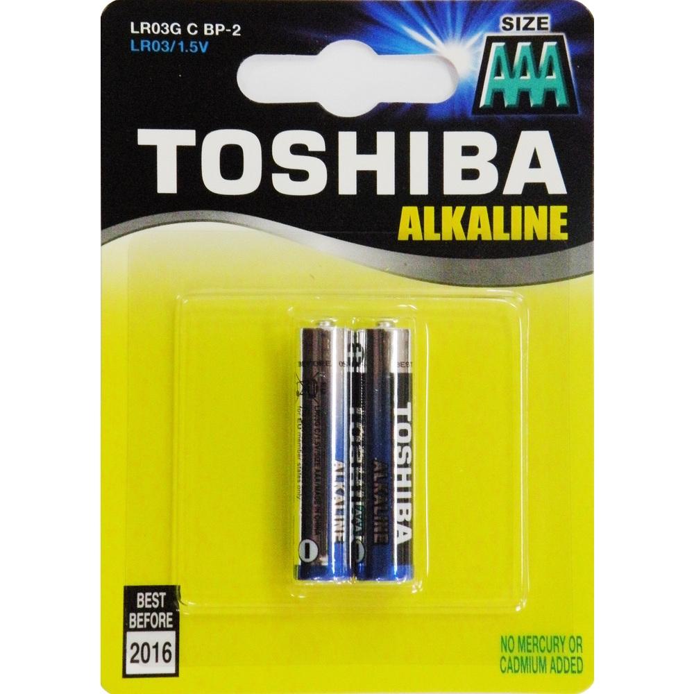 Alkalická mikrotužková AAA batéria Toshiba 1ks