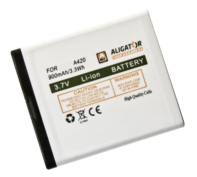 Batéria Aligator A420, V500, V550 - 900 mAh - Li-Ion