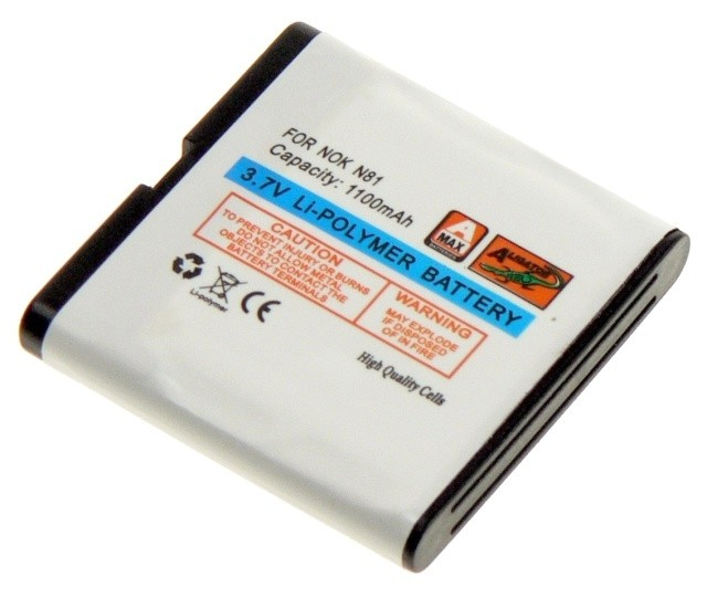 Batéria pre Nokia N81, N81 8GB, N82, E51 - 1100 mAh Li-Pol