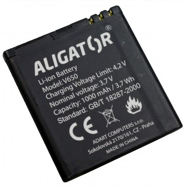 Akumulátor Aligator V650 - 1000 mAh - Li-Ion