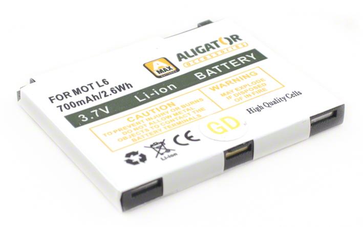 Batéria Motorola MOTORIZR L2, L6, SLVR L7, RAZR V3x - 750 mAh Li-Ion