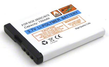 Batéria Nokia 2600 Classic, 7510 Supernova, N75 - 750 mAh Li-Pol