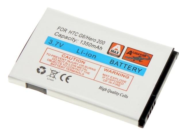 Batéria HTC Hero 200, Hero (Android, G3)  - 1350 mAh Li-Ion