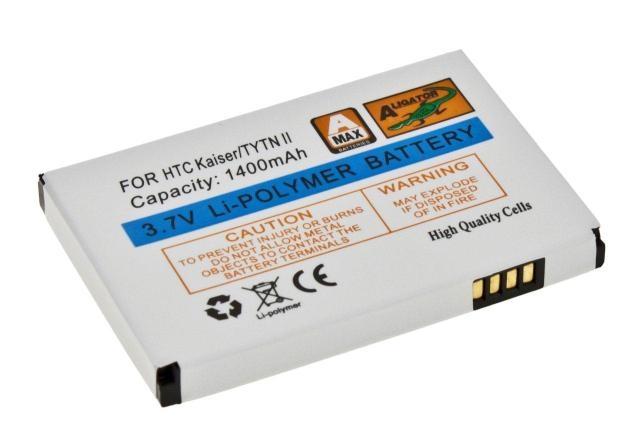 Batéria HTC TyTN II, Kaisar, P4550 MDA Vario III, Xda Stellar, VPA Compact V, XPA v1615 - 1400 mAh Li-Pol