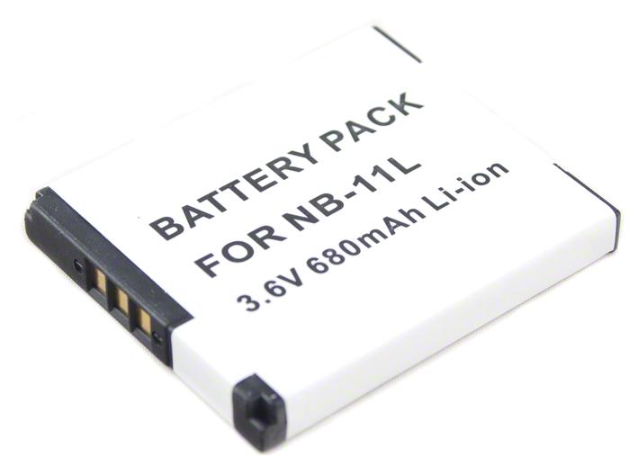 Batéria NB-11L (680 mAh) pre Canon PowerShot A2300, A2400, A2500, A2600, A3400, A3500 IS, A4000 IS, SX400 IS a SX410 IS fotoaparáty