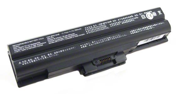 Batéria pre Sony Vaio VGN-AW11M, VGN-NW21MF - 7800 mAh - čierna