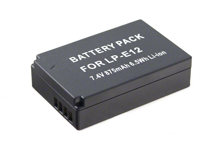 Batéria LP-E12 (875mAh) pre Canon EOS 100D, M, M2, M10 a Rebel SL1 fotoaparáty
