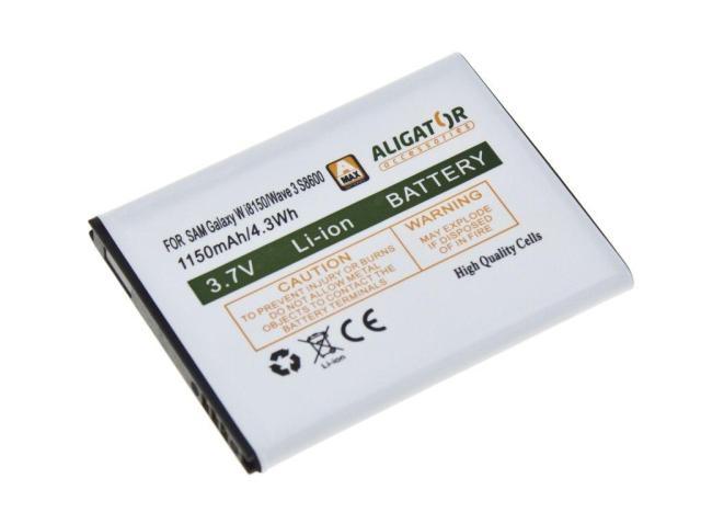 Batéria Samsung Galaxy Xcover S5690, Omnia W I8350, Wave 3 S8600, Galaxy W I8150, Li-ION 1150 mAh